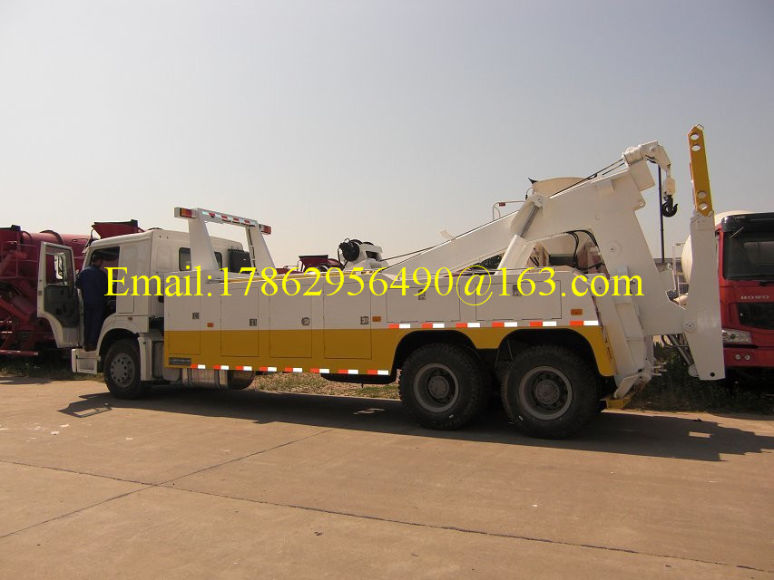 One Bed 6x4 HW76 Cab Road Wrecker Truck With Air Conditioner ZZ1257N5847W