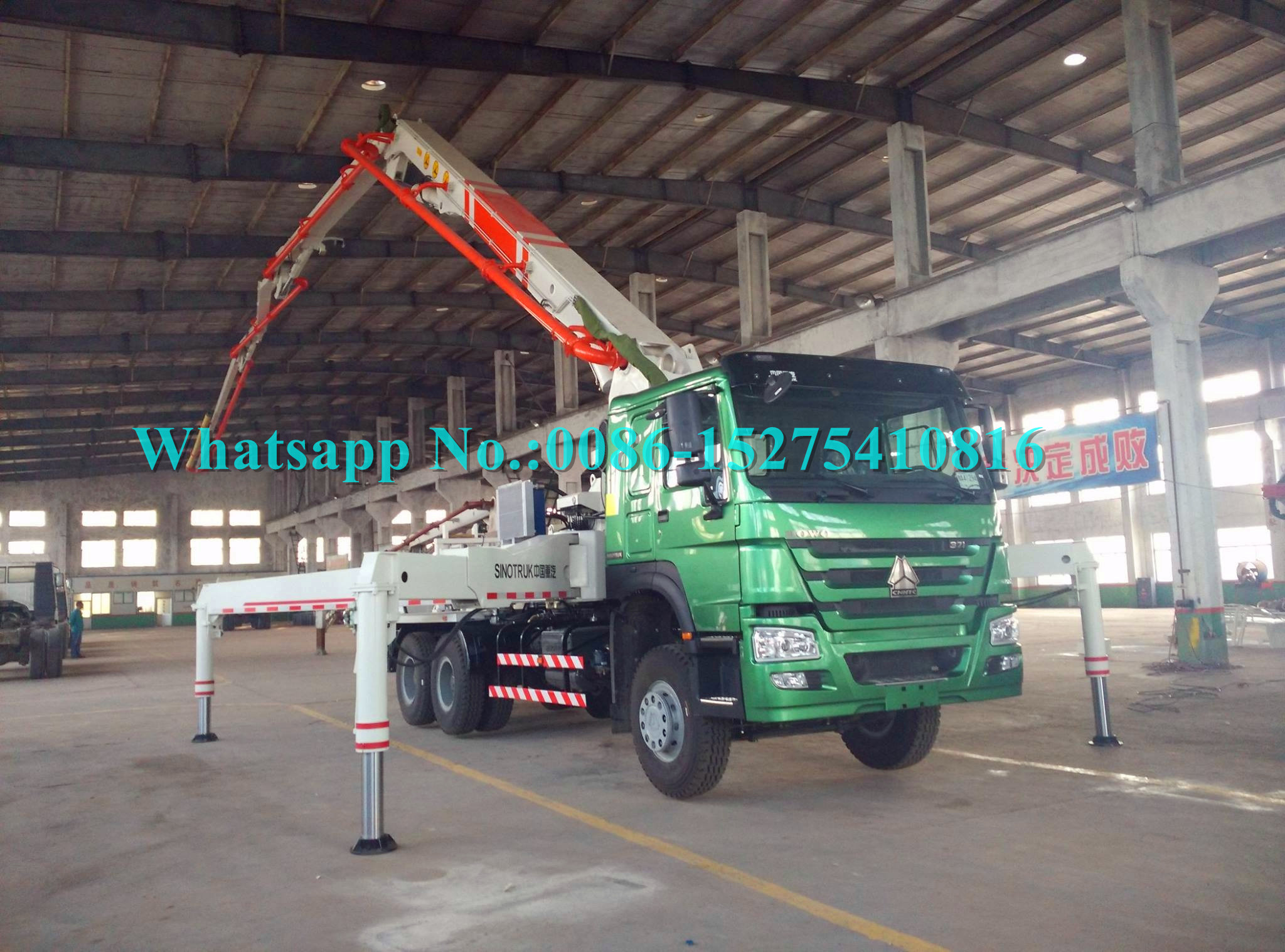 Zoomlion Sany 34m Placing Depth Truck Mounted Concrete Pump 34X-4Z with Output of 120m³/h Construction Equipment