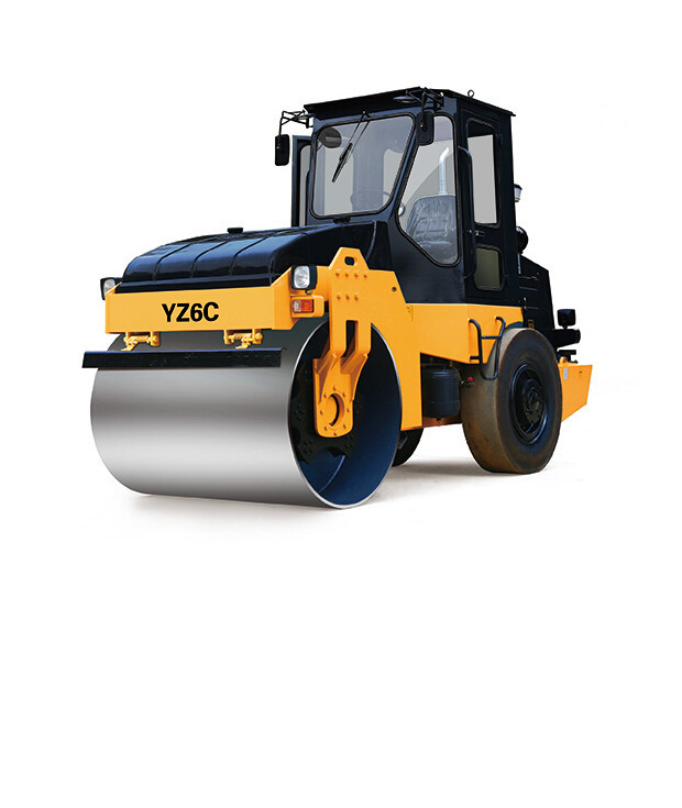 42 Kw Road Construction Equipment YZ6C 6 Ton Hydraulic Steering Road Roller Compactor Single Drum Vibratory